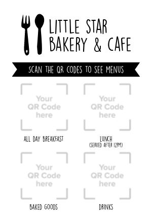 QR Codes Table Card