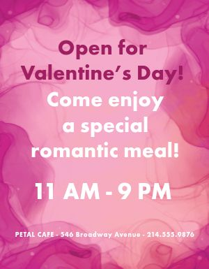 Valentines Open Flyer