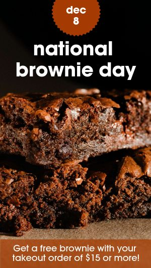 National Brownie Day Facebook Story