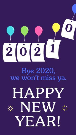 Happy New Year Facebook Story