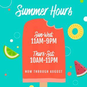 Summer Hours Instagram Update