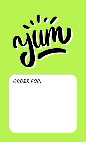 Yum Food Label