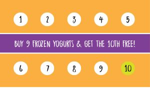 Frozen Yogurt Loyalty Card