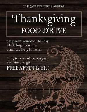 Thanksgiving Can Drive Flyer