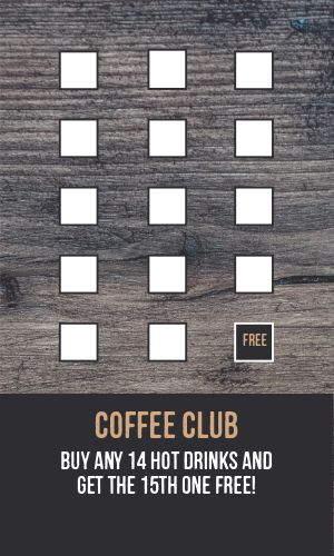 Cafe Loyalty Card