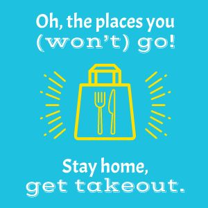 Stay Home Get Takeout Instagram Post
