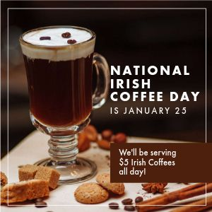 Irish Coffee Instagram Post