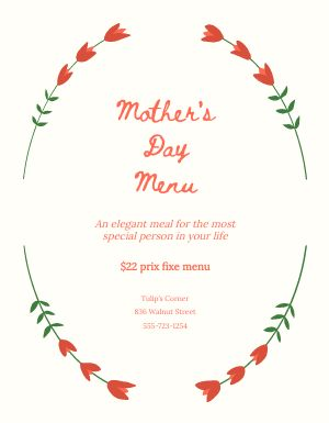 Mothers Day Flowery Flyer