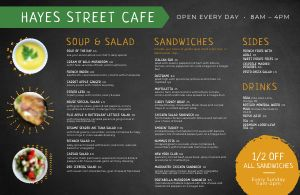 Example Cafe Placemat Menu