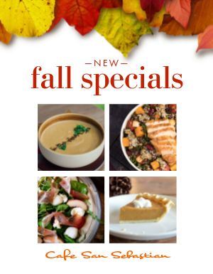 Fall Food Specials Flyer