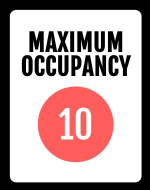 Example Maximum Occupancy Poster