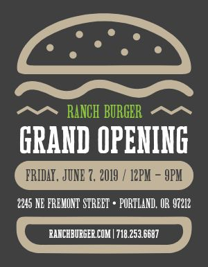 Grand Opening Burger Flyer