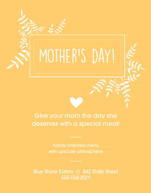 Mothers Day Appreciation Flyer