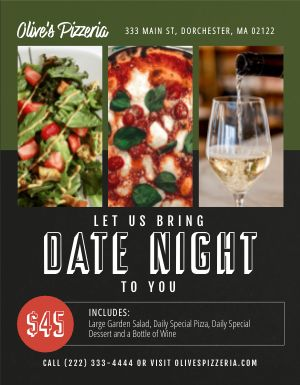 Couple Dinner Flyer