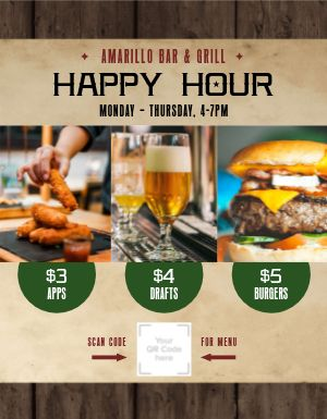 Happy Hour Specials Signage
