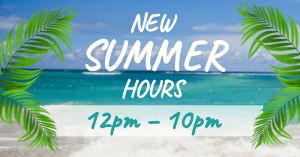 Summer Hours Facebook Post