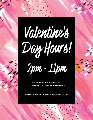 Valentines Hours Flyer