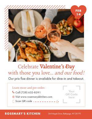 Valentines Day QR Code Flyer