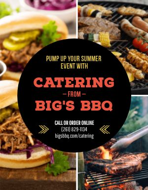Catering BBQ Flyer