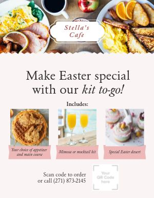 Easter Meal Kit Sign