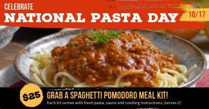 Pasta Facebook Update