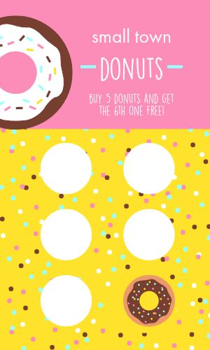 Donut Loyalty Card