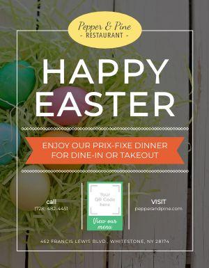 Easter Dinner Sign
