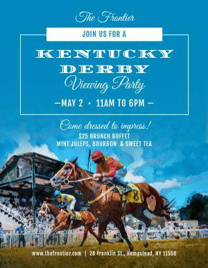 Kentucky Derby Race Flyer