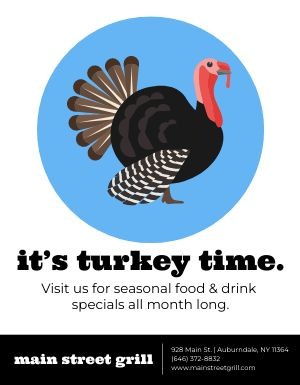 Thanksgiving Turkey Time Flyer