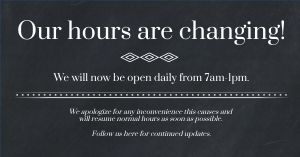 Shortened Hours Facebook Post