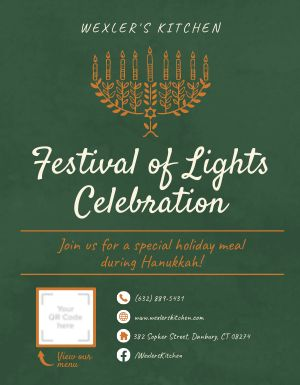 Hanukkah Festival of Lights Flyer