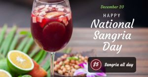 Sangria Day Facebook Post