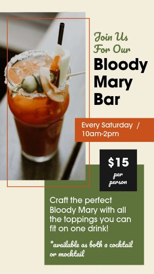 Bloody Mary Facebook Story