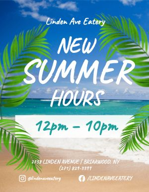 Summer Hours Sign