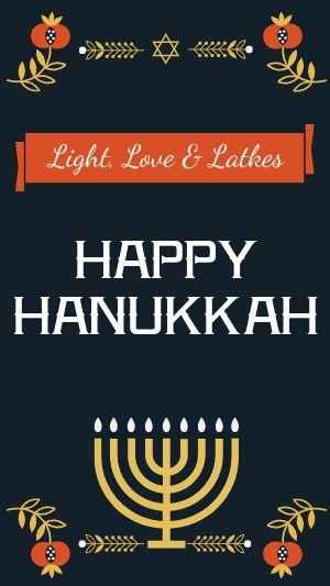 Festive Hanukkah Instagram Story