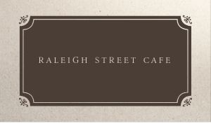 Fancy Cafe Owner Business Card