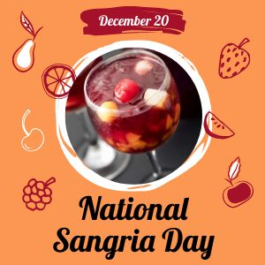 National Sangria Day Instagram Post
