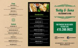 Modern Irish Takeout Menu