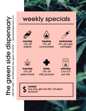 Dispensary Specials Flyer