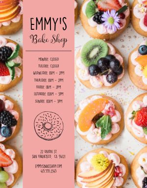 Bakery Hours Flyer