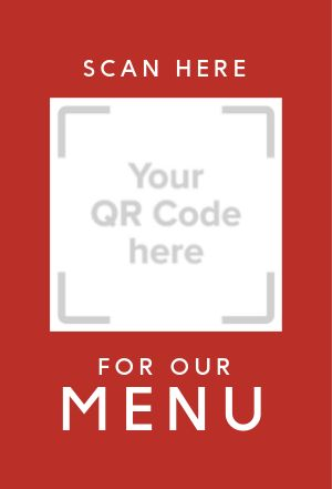 QR Code Menu Table Card