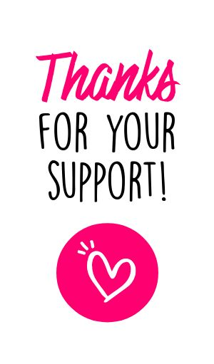 Thank You Support Sticker