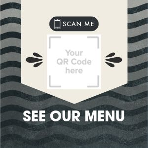 QR Code Menu Sticker