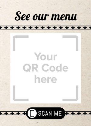 QR Code Tabletop Insert