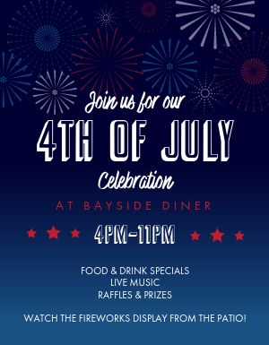 July Fourth Fireworks Flyer