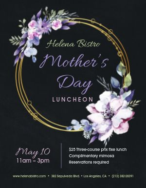 Mothers Day Special Meal Flyer