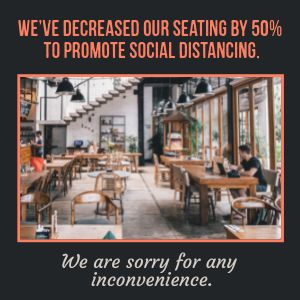 Decreased Seating Instagram Post