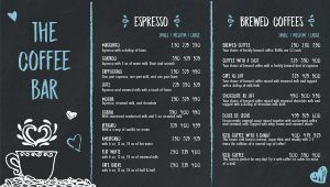 Coffee Bar Digital Menu Board