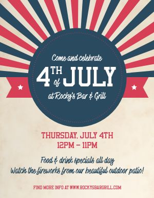 Fourth of July Specials Flyer
