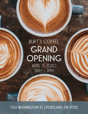 Coffee Grand Opening Flyer